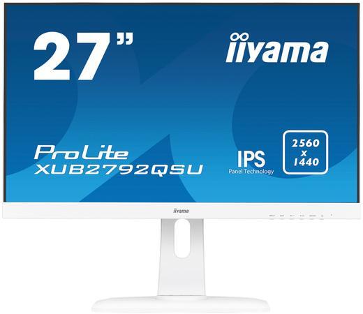 "27"" iiyama XUB2792QSU-W1 - IPS,WQHD,5ms,350cd/m2, 1000:1,16:9,DVI,HDMI,DP,USB,repro,výšk.nast.,pivot"