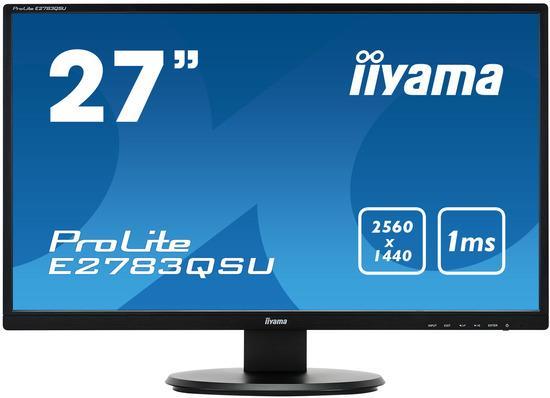 Monitor Iiyama E2783QSU-B1 27inch WQHD, DVI/HDMI/DP, USBx2, FreeSync, Speakers, E2783QSU-B1