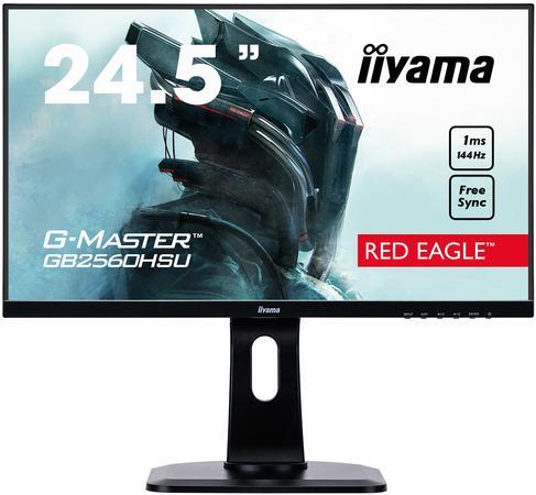 """25"""" iiyama G-Master GB2560HSU-B1 - TN,FullHD,1ms,400cd/m2, 1000:1,16:9,HDMI,DP,repro,pivot,výška., GB2560HSU-B1"""