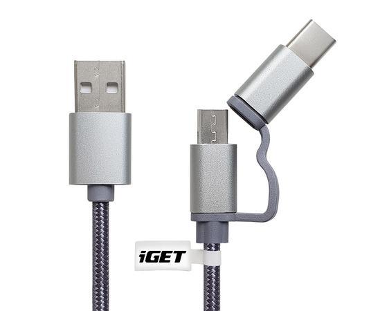 iGET G2V1 USB kabel 2v1, 1m