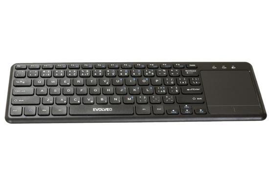 EVOLVEO WK32BG bezdrátová klávesnice s touchpadem, ideální pro smart tv atd. 2,4Ghz, WK32BG