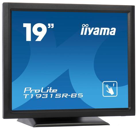 """19"""" iiyama T1931SR-B5 - TN,SXGA,5ms,250cd/m2, 1000:1,5:4,VGA,HDMI,DP,USB,repro,výška., T1931SR-B5"""