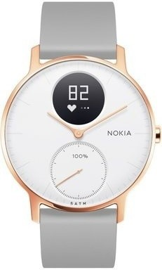 Nokia Steel HR (36mm) Rose Gold w Grey Silicone wristband