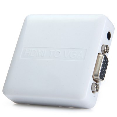 PremiumCord HDMI elek. konvertor na VGA + audio, khcon-35