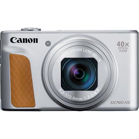 Canon PowerShot SX740HS, Silver - 20MP, 40x zoom, 24-960mm, 4K