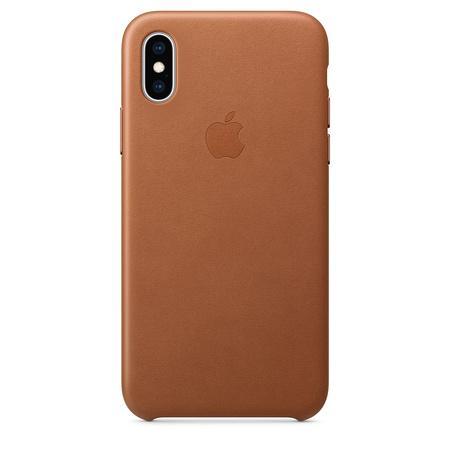 Kryt na mobil Apple Leather Case pro iPhone Xs - sedlově hnědý