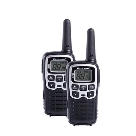 Midland XT50 - Sada dviz vysýlaček, frekvenční skupina PMR446, Kanály: 24 (8 + 16 předprogramovaných), dosah až 8km
