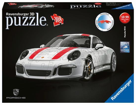RAVENSBURGER 3D puzzle Porsche 911 R 108 dílků