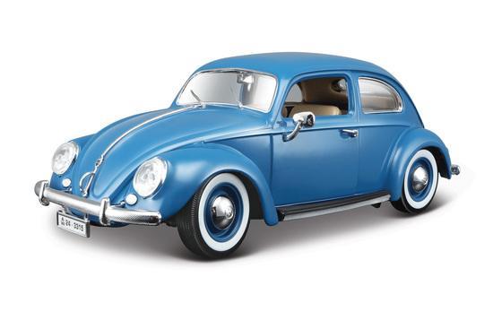 VW KAFER-BEETLE 1:18 modrý