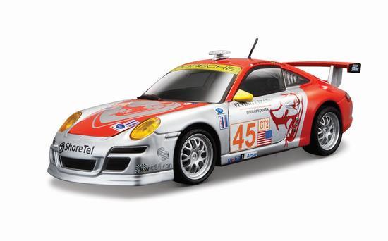 RACE PORSCE 911GT3 RSR 1:24 stříbro-červené