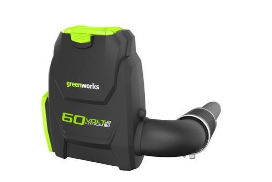 Greenworks GD60BPB aku 60 V zádový foukač s indukčním motorem (bez baterie a nabíječky)