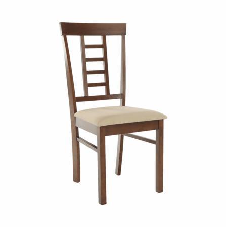 Tempo Kondela Jídelní židle, ořech / béžová, OLEG NEW