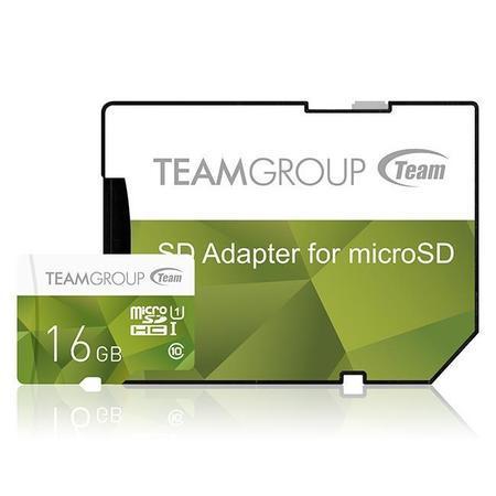 Team Group paměťová karta 16GB micro SDHC UHS-I + SD adaptér zelená