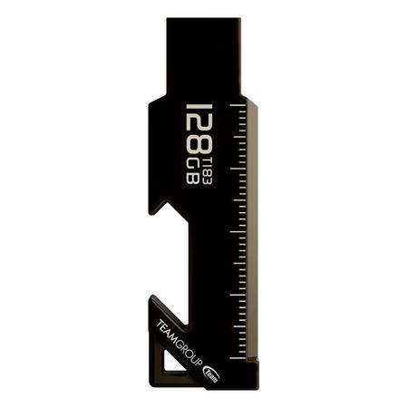 Team Group flash disk 128GB T183 USB 3.1 Gen1 (čtení/zápis: až 85/20MB/s) černá, TT1833128GF01