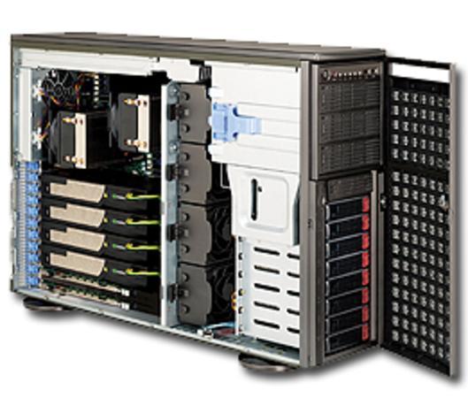 "SUPERMICRO Tower/4U 8x 3,5"" HS SAS/SATA, 4x power connectors (6pin+8pin) pro GPU, 2x1620W (80PLUS Platinum), CSE-747BTQ-R1K62B"