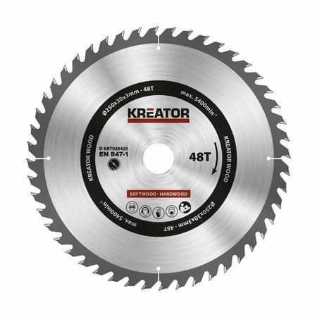 Pilový kotouč Kreator KRT020425 na dřevo 250mm, 48T