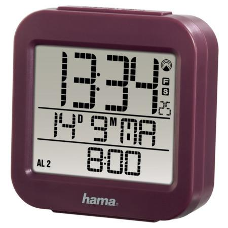 Hama RC 130 digitální budík, řízený rádiovým signálem, vínový