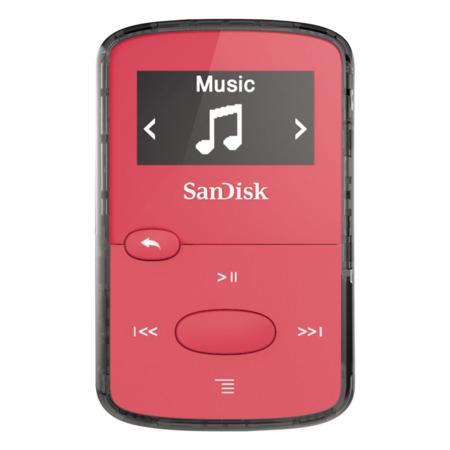 SanDisk Clip Jam 8 GB, FM rádio, MP3, WMA, microSDHC, růžová
