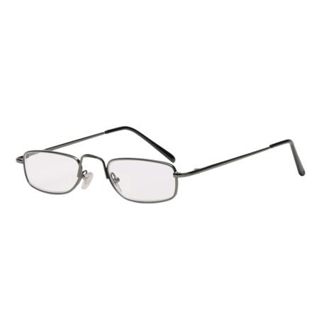 Filtral čtecí brýle, kovové, gun, +2.0 dpt
