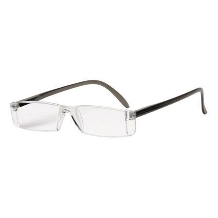 Filtral čtecí brýle, plastové, šedé, +1.0 dpt
