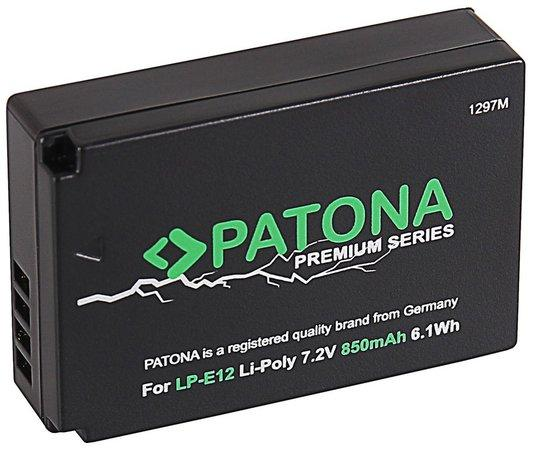 PATONA baterie pro foto Canon LP-E12 850mAh Li-Ion PREMIUM