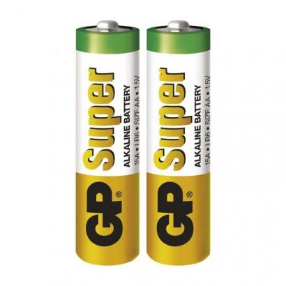 Alkalická baterie GP Super LR6 (AA) fólie (2 ks)