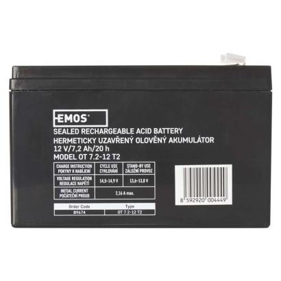 EMOS SLA 12V/7,2Ah Faston 6,3 1201002800