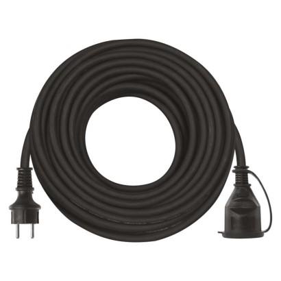 Prodlužovací kabel gumový – spojka, 20m, 3× 1,5mm2