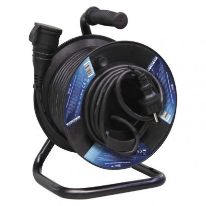 Gumový prodlužovací kabel na bubnu – spojka, 25m, 1,5mm2