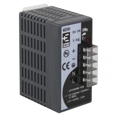 Zdroj pro CCTV 12VDC/3A. instalace DIN