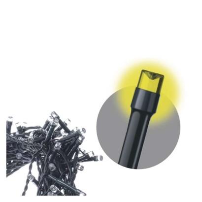 LED řetěz – záclona, 3×AA, IP44, teplá bílá, časovač