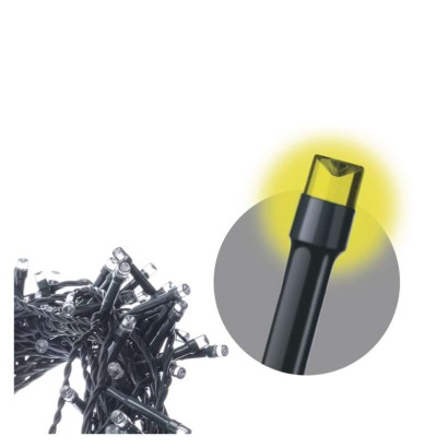 LED řetěz – krápníky, 3×AA, IP44, teplá bílá, časovač