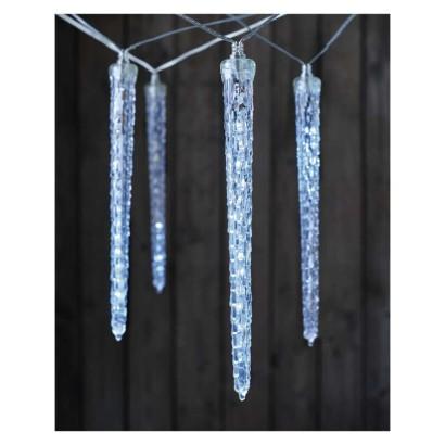 LED girlanda – 10× rampouch, studená bílá