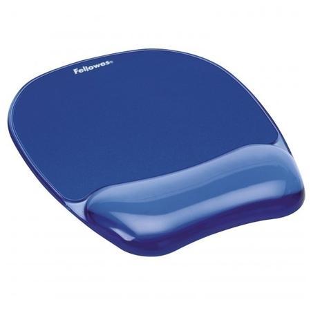 Podložka pod myš a zápěstí Fellowes CRYSTAL gelová modrá,
