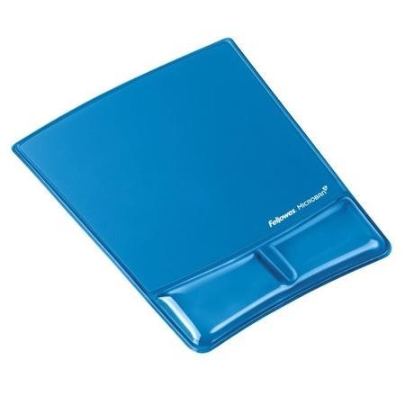 Podložka pod myš a zápěstí Fellowes Health-V CRYSTAL gelová Microban modrá,