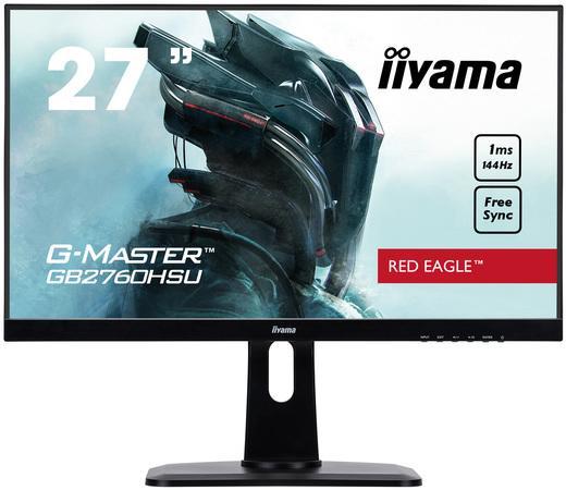 """27"""" iiyama GB2760HSU-B1: TN, FullHD@144Hz, 400cd/m2, 1ms, HDMI, DP, USB, height, pivot, černý, GB2760HSU-B1"""