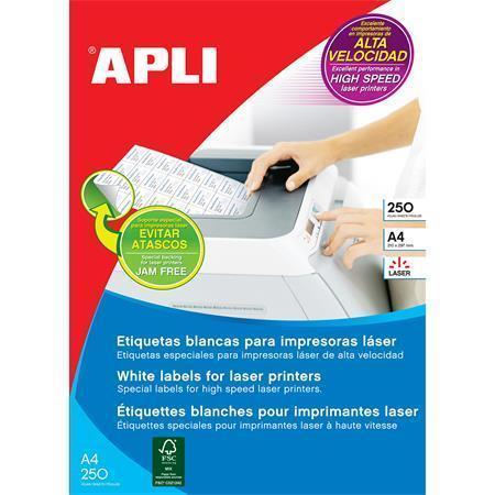 Etiketa, pro laserové tiskárny, 70x35 mm, 6000ks/bal., APLI, bal. 250 ks, 02519