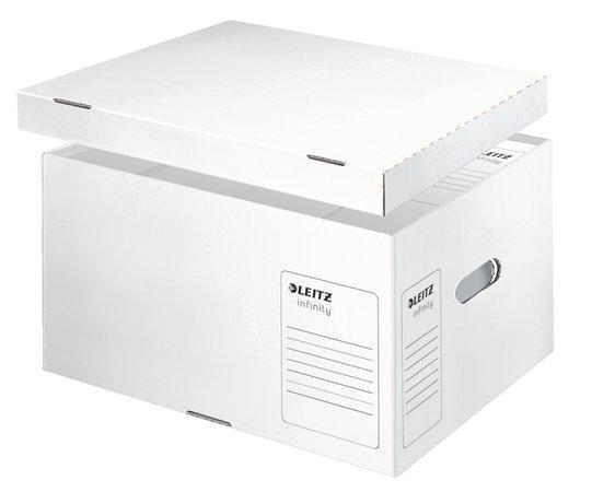 """Archivační kontejner """"Infinity"""", bílá, velikost L, s víkem, LEITZ"""