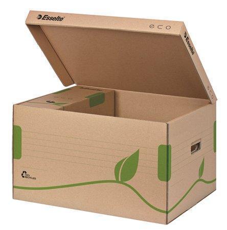 """Archivační krabice """"Eco"""", přírodní hnědá, s víkem, ESSELTE"""
