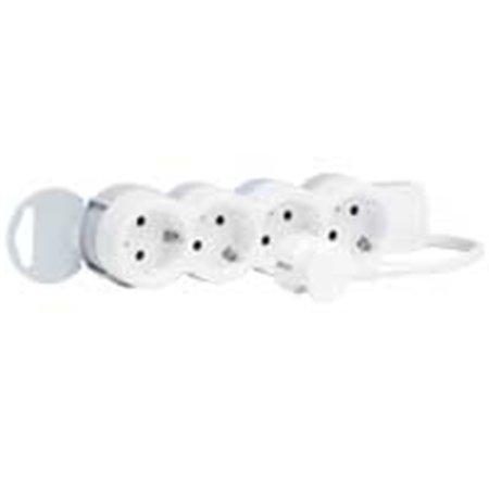 """Prodlužovací kabel, 4 zásuvky, 5 m, LEGRAND """"Standard"""", bílo-šedý"""