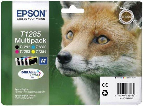 """Inkoustová cart. multipack pro tiskárny """"Stylus S22, SX125"""" tiskárny, EPSON B+C+M+Y, 16,4ml, box 4 ks, C13T12854012"""