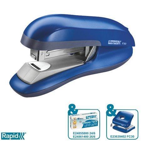 Stolní sešívačka Rapid F30 s plochým sešíváním, Modrá, 23256501