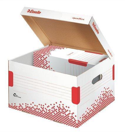 Esselte Speedbox archivační krabice s víkem velikosti M bílá