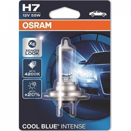 OSRAM autožárovka H7 COOL BLUE INTENSE 12V 55W PX26d (Blistr 1ks)