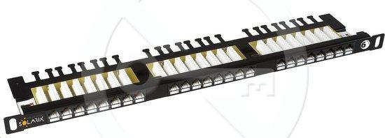 "19"" Patch pan. Solarix 24xRJ45 CAT6 UTP černý 0,5U, SX24HD-6-UTP-BK"
