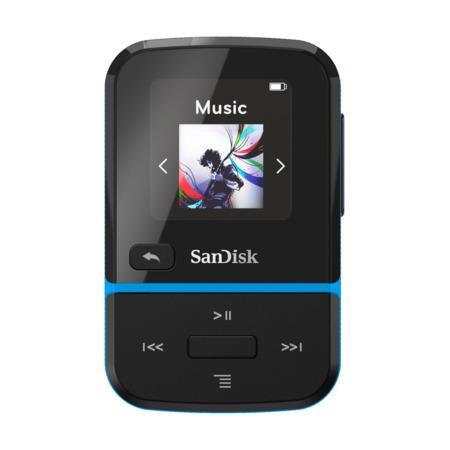 SanDisk MP3 Clip Sport GO 32 GB modrá