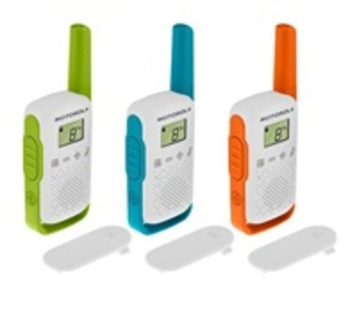 Motorola TLKR T42 Triple Pack vysílačka - 4 km, 8 kanálů, Mix Color