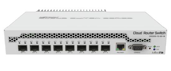 MikroTik CRS309-1G-8S+IN Cloud Router Switch 8x SFP+, 1x GB LAN, CRS309-1G-8S+IN