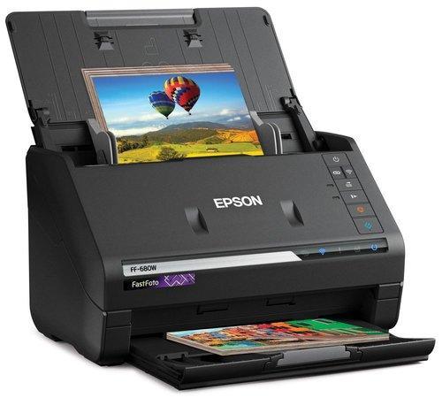 Epson FastFoto FF-680W, A4, 600 dpi,USB,LAN,Wi-Fi, B11B237401