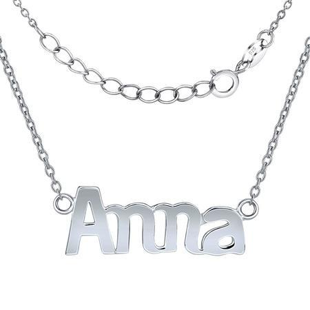 Silvego Stříbrný řetízek se jménem Anna JJJC1809